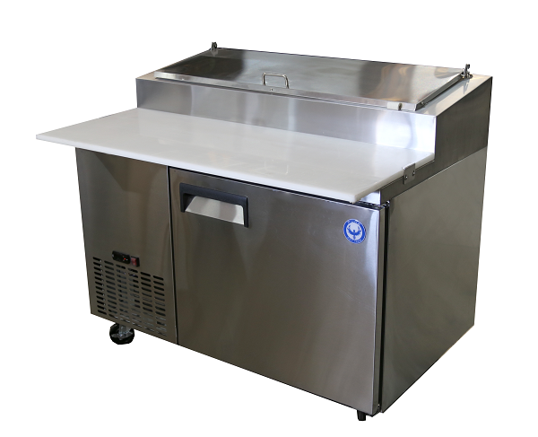 "50"" Single Door Refrigerated Pizza Prep Table"