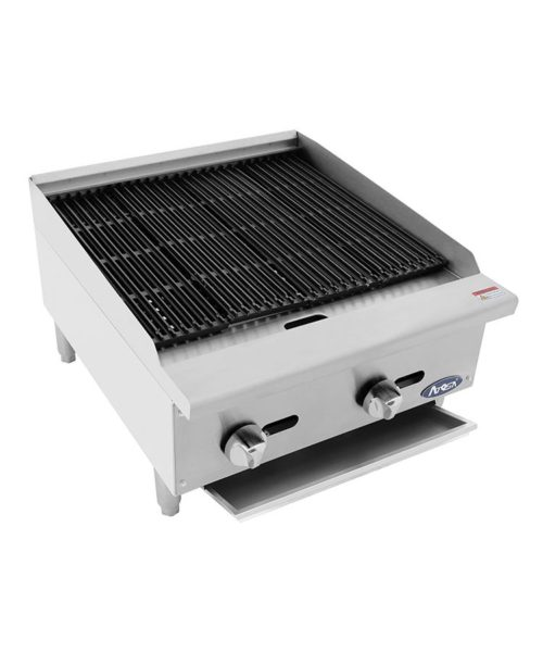 24 inch char-rock broiler by Atosa